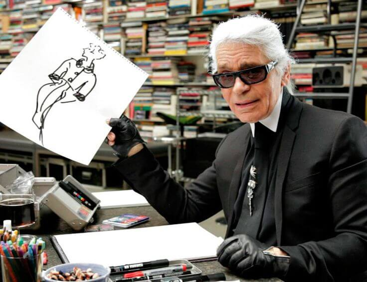 Karl Lagerlefd, dessinant pour Chanel